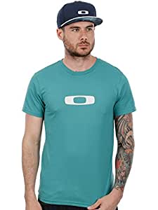 2015 Oakley Square Me EU Short Sleeve Tee Mens Cotton T-Shirt Green Slate Small