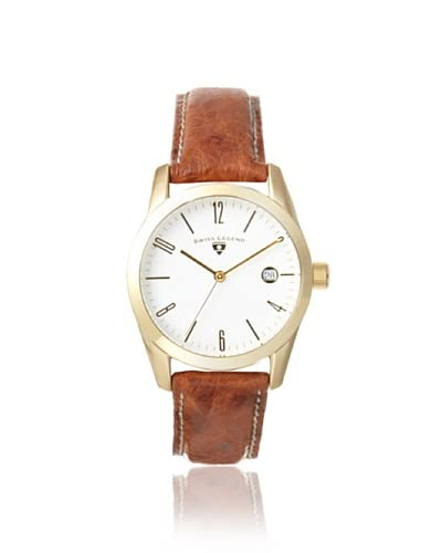 Swiss Legend Unisex 22038-YG-02-DA03C Peninsula Brown/White Leather Watch
