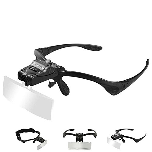 Beileshi-5Lens-Glass-Magnifying-Visor-Magnifier-Glasses-With-2-LED-Professional-Jewelers-Loupe-Light-Bracket-and-Headband-are-Interchangeable