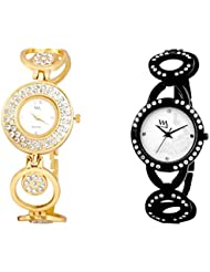 Watch Me MULTI Combo Set Of 2 Analogue Watches Gift For WOMEN WMAL-115G-114