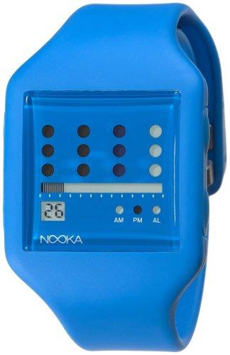 Nooka Unisex ZUB-ZOT-BL-20 Zub Zot Blue Polyurethane Watch