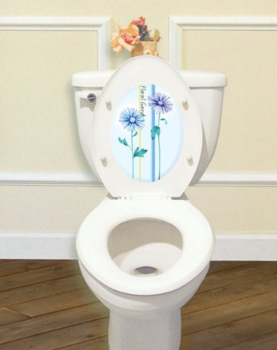 Peel & Stick Toilet Seat Cover Sticker [Cs-05 X 5Pcs] Waterproof & Removable Sticker With Glitter Powder - Made In Korea