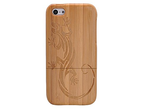 Queens® Unique Real Special Unique Real Handmade Natural Wood Wooden Hard Bamboo Shockproof Case For Iphone 6 (4.7) (A-11)