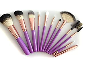 Makeup Brushes Set By Boutiguaire Is a Professional 11-piece Natural Goat Hair Cosmetic Brush Kit with Durable Black Organizer Case in Reusable High Quality Gift Box: No Shedding, Brand Name Quality, Works with Creams, Powders and Mineral Makeup. Best Guarantee!