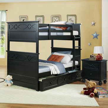 Homelegance Sanibel 2 Piece Bunk Bed Kids' Bedroom Set in Black