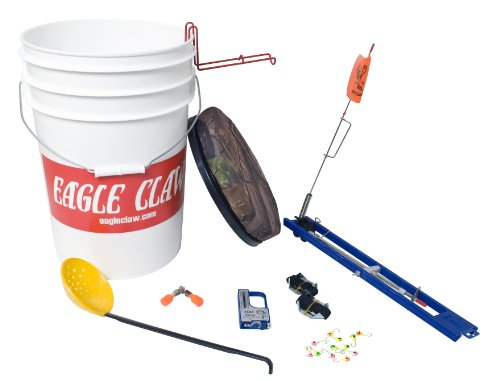 Eagle claw ice bucket kit 6 gallon best fishing gear for Ice fishing bucket