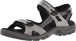 ECCO Men\'s Yucatan Sandal,Wild Dove/Titanium/Black,44 EU/10-10.5 M US