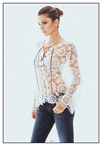 Blusa Denny Rose, ART 46DR41002, Taglia: S, Colore: Bianco
