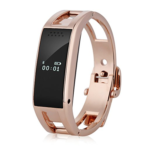 Excelvan Bluetooth Health Smart Bracelet Sport Watch Sync Call SMS Music Reminder Anti-lost for Samsung HTC LG IOS Android Smartphones Watch Phone