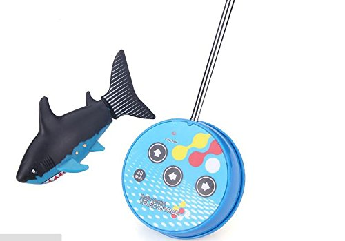 Rc Mini Electrical Shark-shaped Submarine/Boat (Black&can-packed) by Youngstore