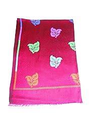 Maira Women's Pashmina Shawls & Stoles Maroon Colour