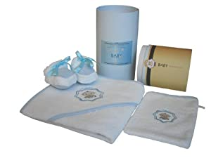 Baby Champagne 3 Piece Bathtub Gift Set and Keepsake Cylinder Box, Blue, 0-6 Months at Sears.com