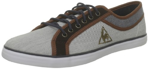 Le Coq Sportif Mens Honfleur 2 Tones Cvs/Stripes Lace-Up Flats