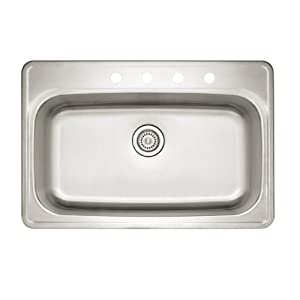 Blanco 441268 Spex II Super Single Bowl Kitchen Sink, Stainless Steel