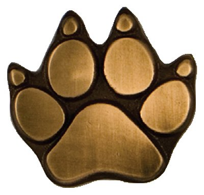 Michael Healy Designs MHR66 Door Bell Ringer, Dog Paw, Bronze, 2.25 x 2.5 x 1-In.