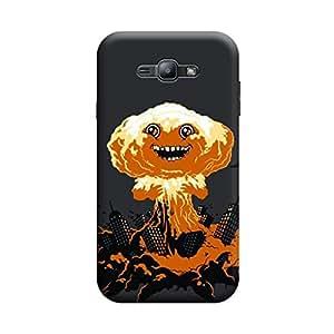 Desicase Samsung J1 Hallo 3D Matte Finishing Printed Designer Hard Back Case Cover (Brown)