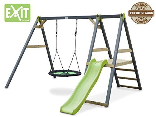 EXIT Aksent Nestschaukel mit Rutsche / wasserabweisender Nestschaukelsitz / Nordisches Fichtenholz / Maße: 337x235x214 cm / Gewicht: 77,5 kg jetzt bestellen