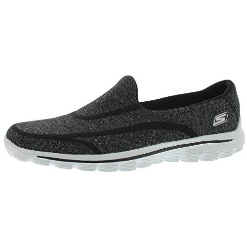 Skechers Performance Women's Go Walk 2 Super Sock Slip-On Walking Shoe,Old Black White,8.5 M US (Skechers Go Walk Super Sock compare prices)