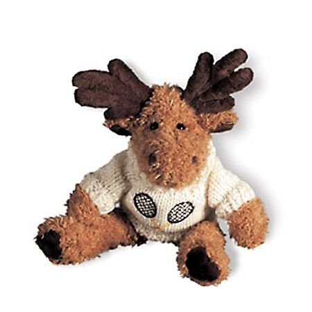 Stuffed Animal Tennis Moose with Blue Sweater