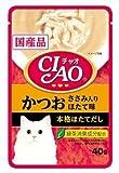 CIAOパウチ かつお ささみ入り ほたて味 40g【単品】