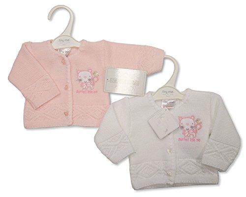 Premature Baby Girl Knitted Cardigans Pack Of 2 U2013 3/5 Lbs (1.4 U2013 2.3 Kg)