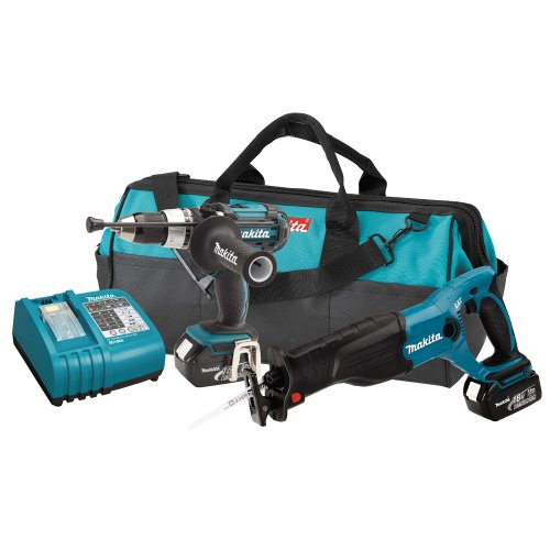 Makita LXT221 18-Volt LXT Lithium-Ion Cordless Two-Piece Combo Kit
