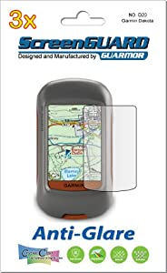3x Garmin Dakota 20 10 Handheld GPS Navigator Premium Anti-Glare Anti-Fingerprint Matte Finishing LCD Screen Protector Cover Guard Shield Protective Film Kits (Package by GUARMOR)