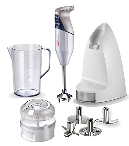Bamix SwissLine Anniversary Edition 8-Piece Immersion Blender Set White (Bamix Meat Blade compare prices)