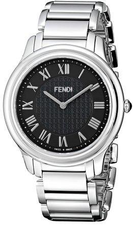 フェンディ Fendi Men's F251011000 Classico Analog Display Quartz Silver Watch 男性 メンズ 腕時計 【並行輸入品】