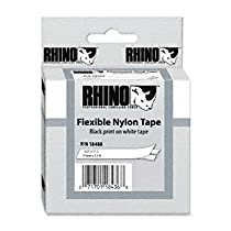 DYMO® Rhino Industrial Label Cartridges LABEL,1/2,FLEX,NYLON,WE 77190 (Pack of5)
