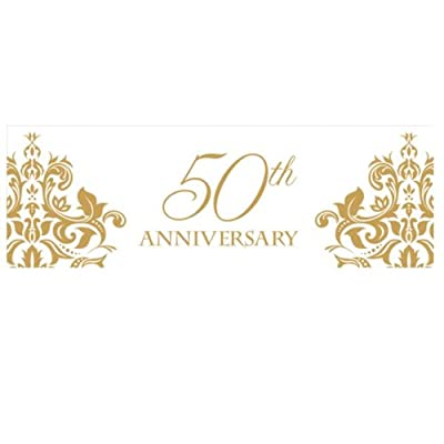 Golden 50th Anniversary Giant Banner