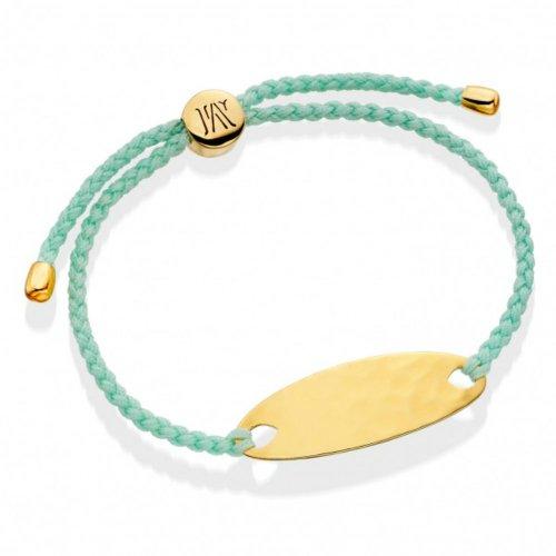 New * Monica Vinader Gold Vermeil Ava Bracelet - Mint