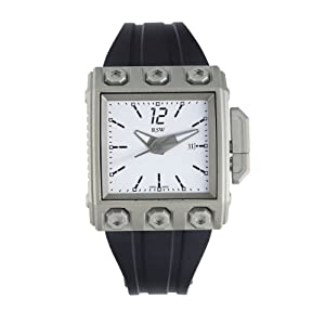 RSW Men's 7120.MS.R1.H2.00 Outland Square Automatic Grey Pvd White Dial Rubber Watch