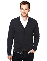 XS Blue Harbour Pure Cotton 2 Pockets Cardigan