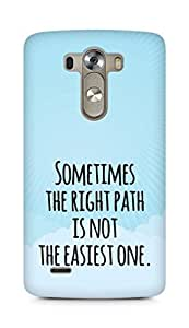 AMEZ the right path is not easy Back Cover For LG G3
