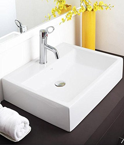 Hindware Magna 10079 Ceramic Table Top Basin 63x50 (Ivory ,One Piece)