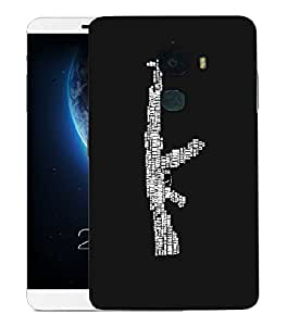 Snoogg Words On Ak 47 Designer Protective Back Case Cover For LETV LE MAX 2