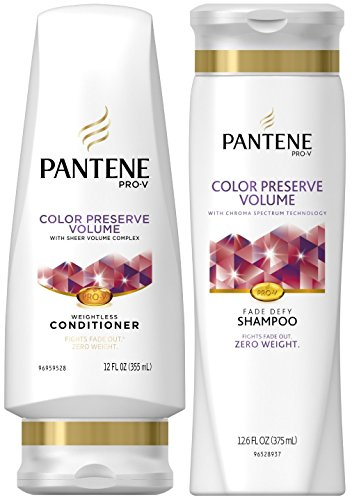 Pantene Pro-V Color Preserve Volume, DUO Set Shampoo 12.6 Ounce + Conditioner 12 Ounce, 1 Each (Pantene Prov Color Conditioner compare prices)