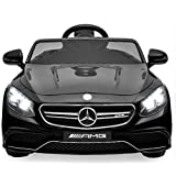 Best Choice Products 12V Kids Battery Powered Licensed Mercedes-Benz S63 Coupe RC Ride-On Car w/ Parent Control, LED Lights, MP3 Player, 3 Speeds - Black (Color: Black)