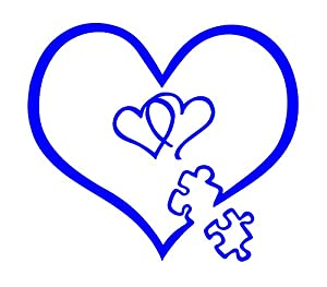 Amazon.com: Autism Awareness Heart Puzzle Entwined Heart ...