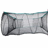 CRAB TRAP NET FOR CRAB PRAWN SHRIMP CRAYFISH LOBSTER EEL LIVE BAIT FISHING POT TRAP - NET - BASKET - Cylinder, 30 x 60 cm by EXPRESS TRADING ®