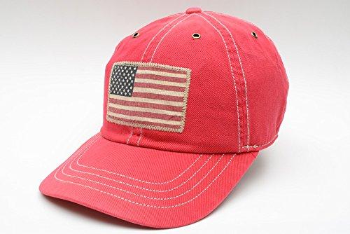[ラルフローレン] RALPH LAUREN FLAG PATCH CHINO CAP RED