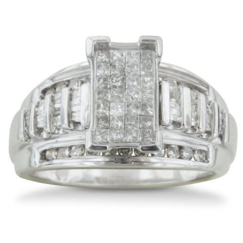 Cheapest 1ct HUGE Look Diamond Engagement Ring in Sterling Silver, Available in Sizes 5 to 8, With Free Blitz Jewelry Cleaner