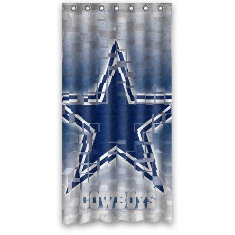 Unique Dallas-Cowboys Blue Star Design Shower Curtain Standard Inch Size 36(W) X 72(H) front-860339