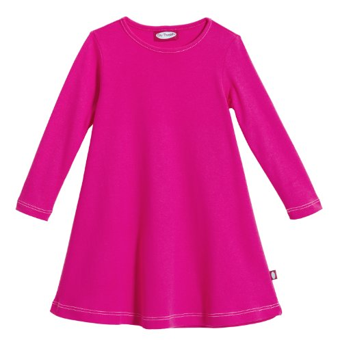 City Threads Little Girls' Cotton Long Sleeve Dress for School or Play for Sensitive Skin SPD Sensory Friendly, Hot Pink, 6 (Hot Pink Maxi Dress compare prices)