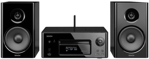 Denon N7WTE2GB CEOL Network Music System with FM/AM, CD Player, iPod Dock  &  WiFi Media Streaming with Speakers-Black