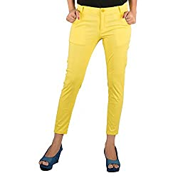 Parinita Yellow Color Cotton Trouser For Girls_M