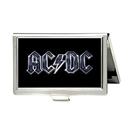 AC DC RocK Custom Fashion Metal Stainless Steel Pocket Business Name Credit ID Card Case Box Holder by Oskay