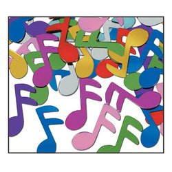 Fanci-Fetti Musical Notes (multi-color) Party Accessory  (1 count) (1 Oz/Pkg)