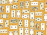ALICE IN WONDERLAND Playing Card Queen King Jack Heart Spade Diamond Club Cotton Fabric BY THE HALF YARD